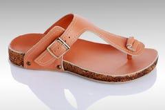 Flip-flop di cuoio Fotografia Stock