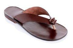 Flip-flop di cuoio Immagini Stock Libere da Diritti