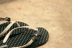 Flip-flop di gomma Fotografia Stock