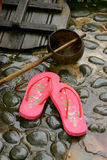 Flip-flop with dipper Royalty Free Stock Photos