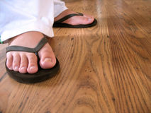 Flip flop feet Stock Photos