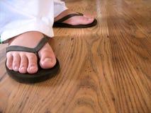 Flip flop feet Stock Photos