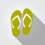 Flip Flop Flat Icon con ombra lunga, vettore Immagini Stock Libere da Diritti