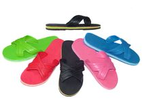Flip Flop Mix color with isolated on white Stock Photography