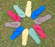 Flip-Flop Multi Color Royalty Free Stock Photos