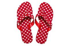 Flip-flop rossi Immagine Stock Libera da Diritti