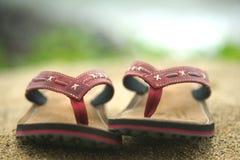 Flip-flop. Sabbia Fotografia Stock Libera da Diritti