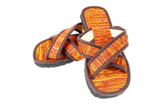 Flip flop sandals beach shoes on white background Stock Images