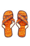 Flip flop sandals beach shoes on white Stock Photo