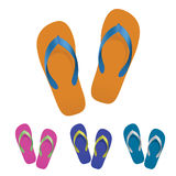 Flip flop set Royalty Free Stock Photos