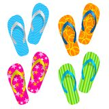 Flip flop set Royalty Free Stock Image