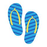 Flip Flop Shoe Vector Icon Stock Photography