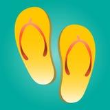 Flip Flop Shoe Vector Icon Stock Photos