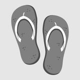 Flip Flop Shoe Vector Icon Royalty Free Stock Image