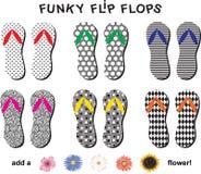 Flip Flop Shoes et fleurs Photos stock