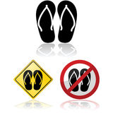 Flip flop signs Royalty Free Stock Photos