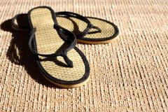 Flip-flop su iuta Immagini Stock
