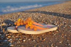 Flip-flop sulla spiaggia Immagine Stock Libera da Diritti
