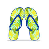 Flip flop with summer pattern Stock Photos