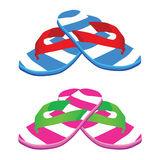 Flip flop vector art illustration Royalty Free Stock Image