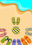 Flip-flop and volley ball Stock Photography