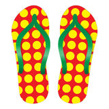 Flip-flops. An illustration for your design project Royalty Free Stock Photos