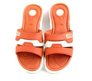 Flip-flops. On a white background Royalty Free Stock Photos