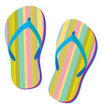 Flip Flops. Summer retro sandals in Vector illustration Royalty Free Stock Photos