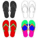 Flip-flops ajustados ilustração stock