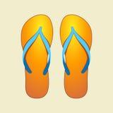 Flip-flops alaranjados ilustração royalty free