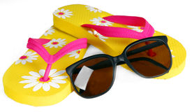 Flip Flops And Sunglasses Stock Photo