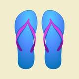 Flip-flops azuis Fotos de Stock