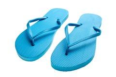 Flip-flops azuis isolados Foto de Stock Royalty Free