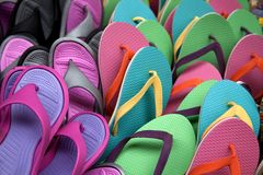 Flip flops background Royalty Free Stock Photo