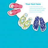 Flip flops banner Royalty Free Stock Photography