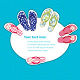 Flip flops banner Royalty Free Stock Photo