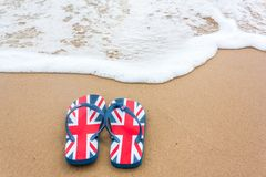 Flip-flops on the Beach Stock Image