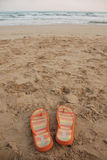Flip Flops on Beach Stock Image