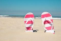 Flip flops on the beach Stock Image