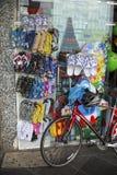 Flip Flops shop Bike Stock Images