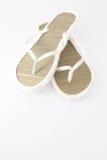 Flip-flops brancos foto de stock