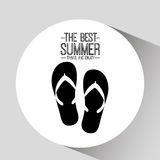 Flip flops card best summer travel and enjoy Stock Images