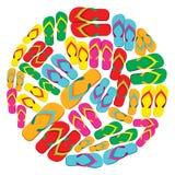 Flip flops circle Royalty Free Stock Photo