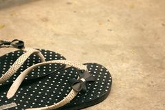 Flip-flops de borracha foto de stock