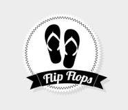 Flip flops. Design,  illustration eps10 graphic Royalty Free Stock Image