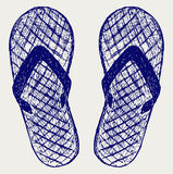 Flip-flops. Doodle style Royalty Free Stock Photo
