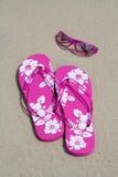 Flip-flops e máscaras Foto de Stock Royalty Free
