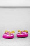 Flip Flops in Empty Landscape Royalty Free Stock Image