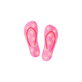 Flip flops flat icon, travel tourism. Summer vacations, a colorful solid pattern on a white background, eps 10 Stock Photos
