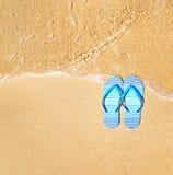 Flip flops. On a beach royalty free stock photo